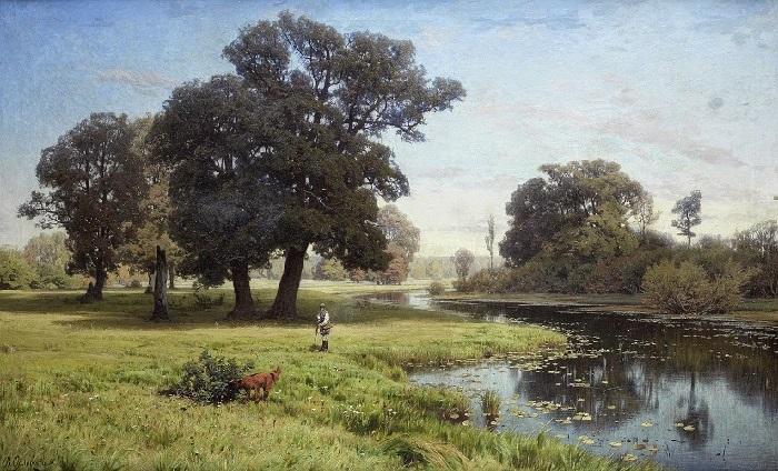 Река Гнилица». (1885 год). Художник: Владимир Орловский.