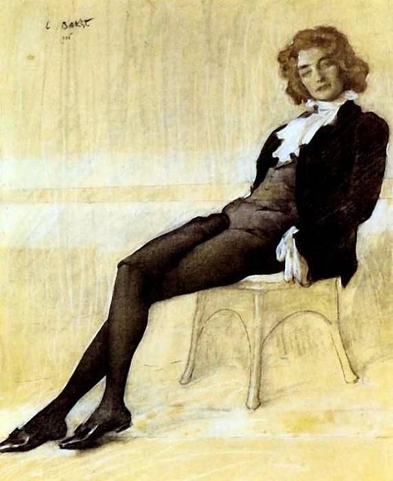 Портрет Зинаиды Гиппиус. (1906). Автор: Лев Бакст.