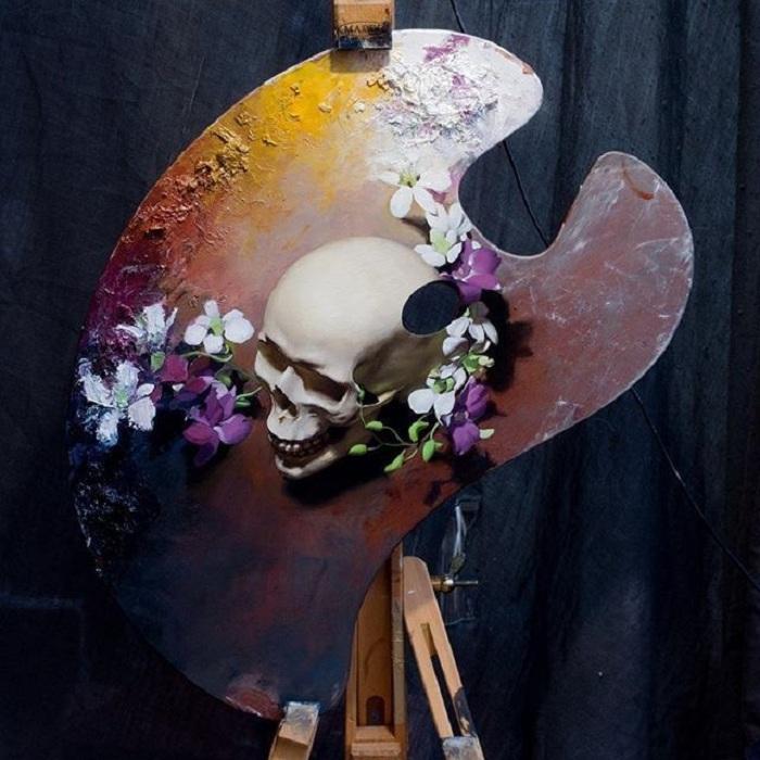 Картина на палитре от Kieran Ingram.