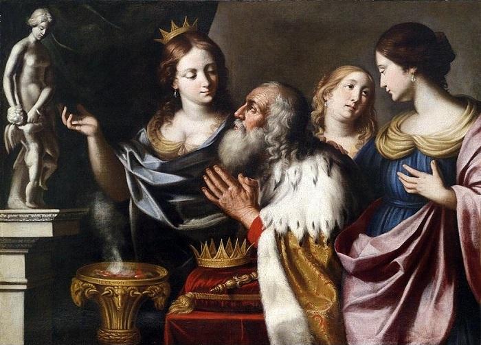 Идолопоклонство Соломона. (1668г.). Автор: Джованни Писсаро