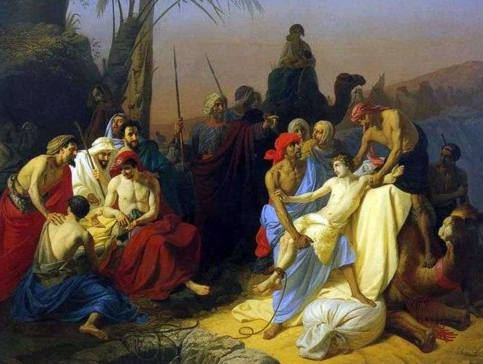 Дети Иакова продают своего брата Иосифа. 1855 год. Автор: Константин Флавицкий.
