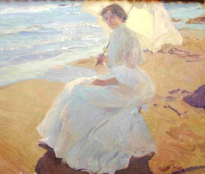 «Супруга художника» - Клотильда. Автор: Хоакин Соролья-и-Бастида.