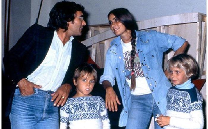 Аль Бано и Ромина Пауэр со старшими детьми.