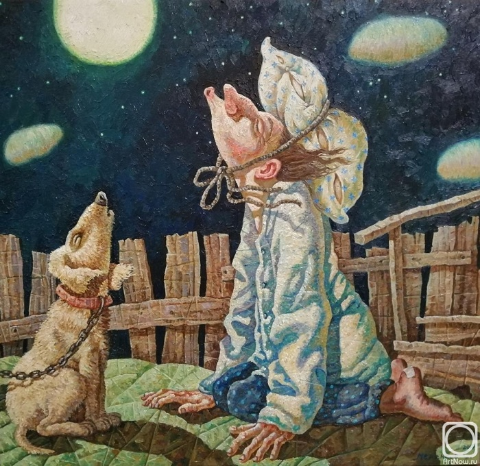 Лунная соната. Живопись от Меренкова Сергея.