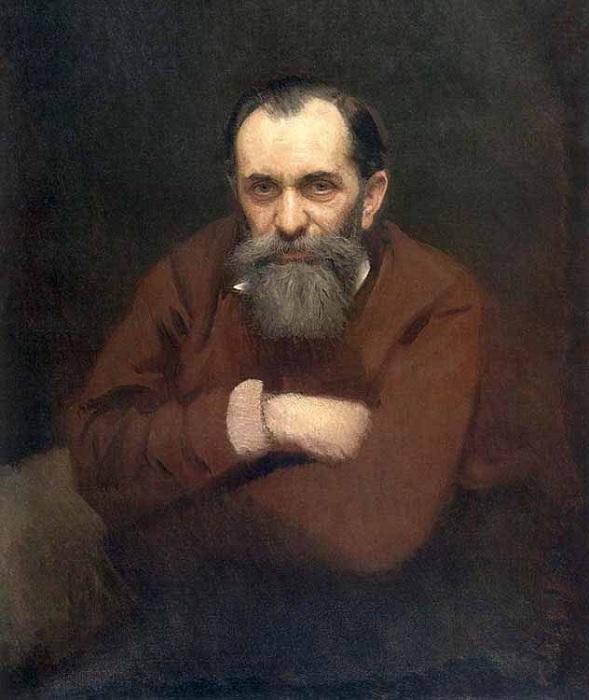 Портрет В.Г. Перова. (1881 г). Художник: И.Н. Крамской