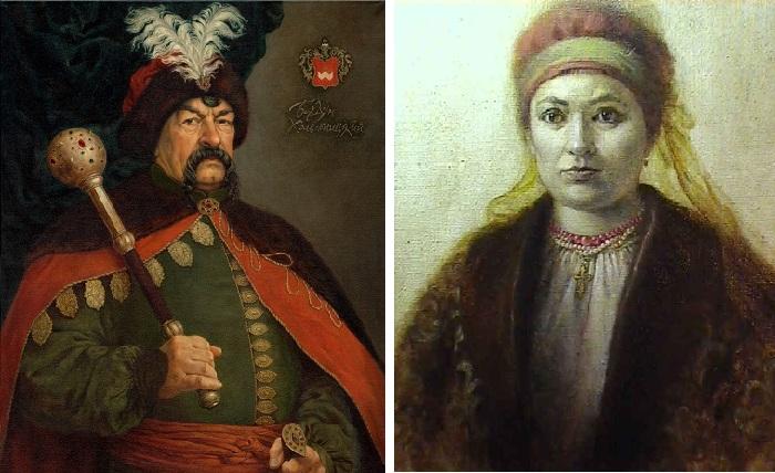 Жены Богдана Хмельницкого.