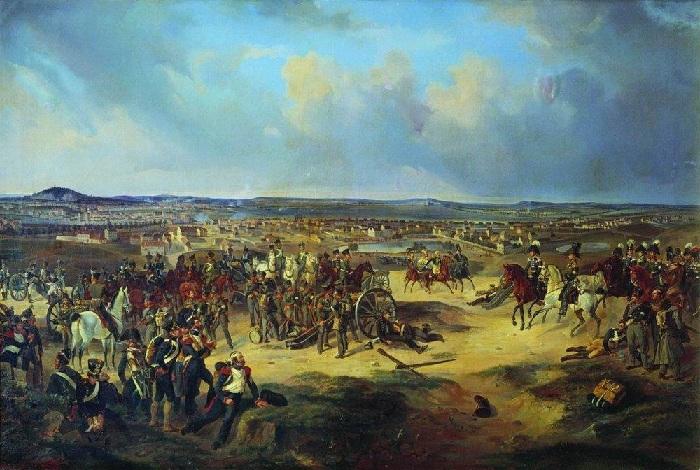 Сражение при Париже в 1814 г.(1834). Автор: Б. Виллевальде.