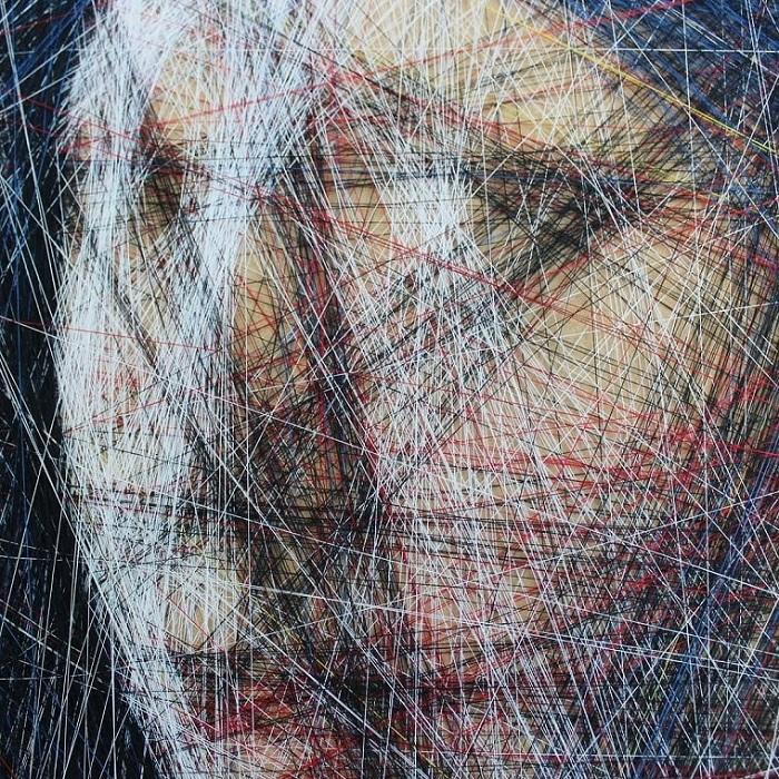 Ниточные картины от Ани Абакумовой.