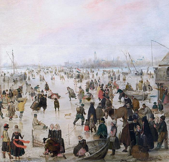 «На льду у городских стен». (Фрагмент 1).