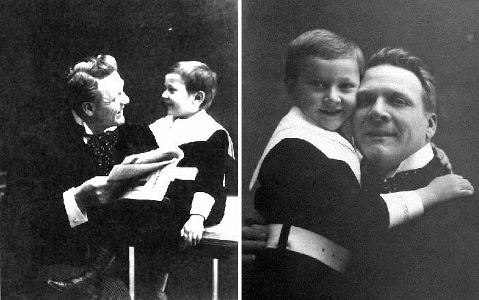 Шаляпин с сыном Борисом.
