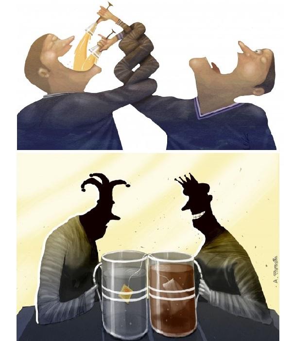 Несправедливость. Карикатуры Андрея Попова. | Фото: dotart.info/ru.