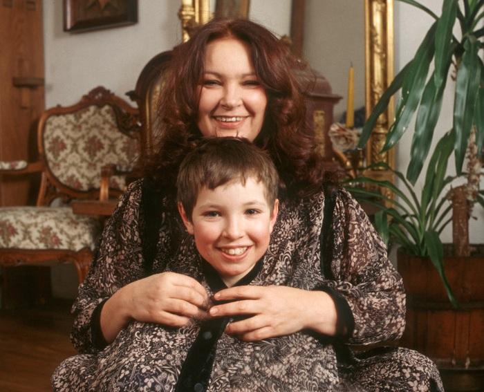 Анна Дымна с сыном Михалом.