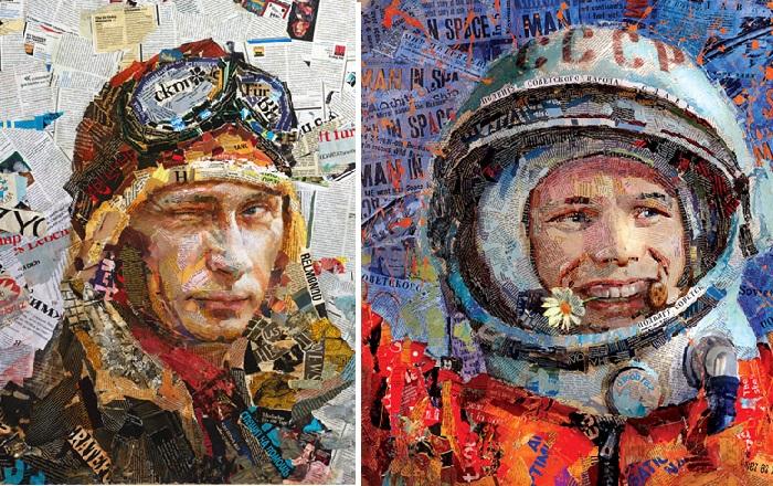 «Mr. President». /  «Первый». Портреты в стиле APP.ART от Андрея Шатилова.
