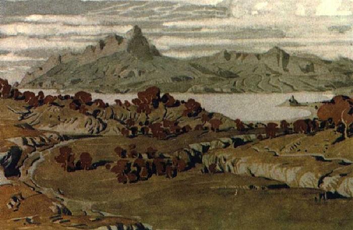 Крым в окрестностях Коктебеля. (1910 год). Автор: Максимилиан Волошин.