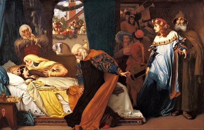 «Притворная смерть Джульетты». (1856-1858) Автор: Фредерик Лейтон.