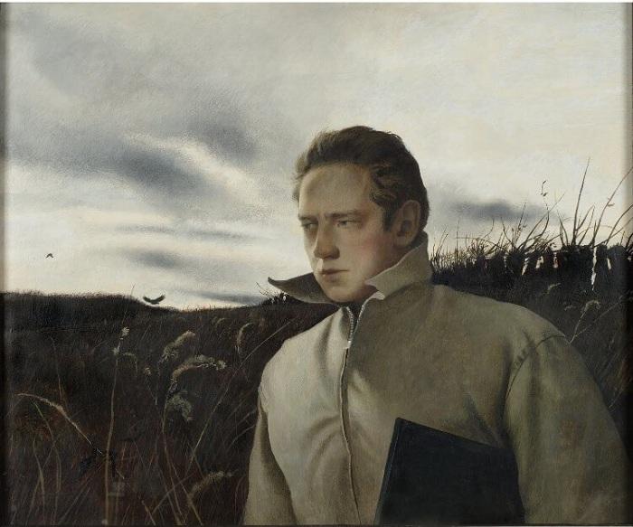 Эндрю Уайет. Автопортрет. (1945 год).
