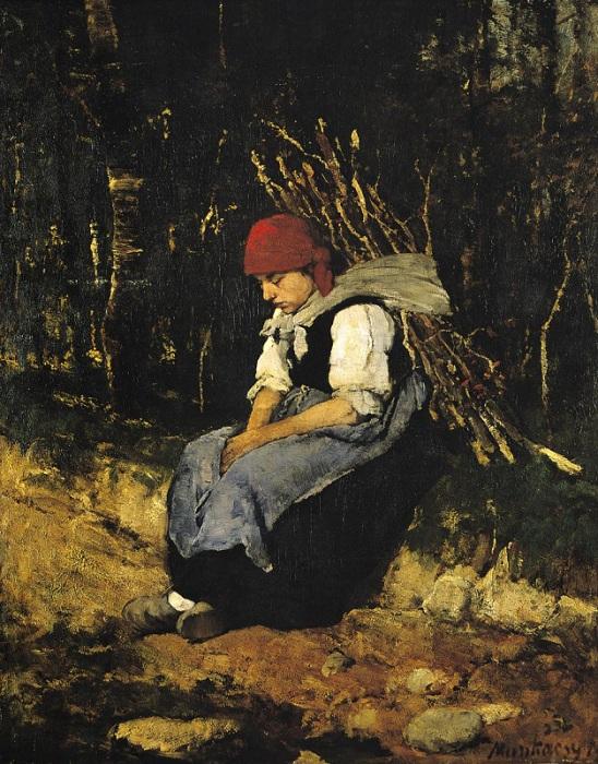 «Женщина, несущая хворост» (1873 год). Автор: Михай Мункачи.