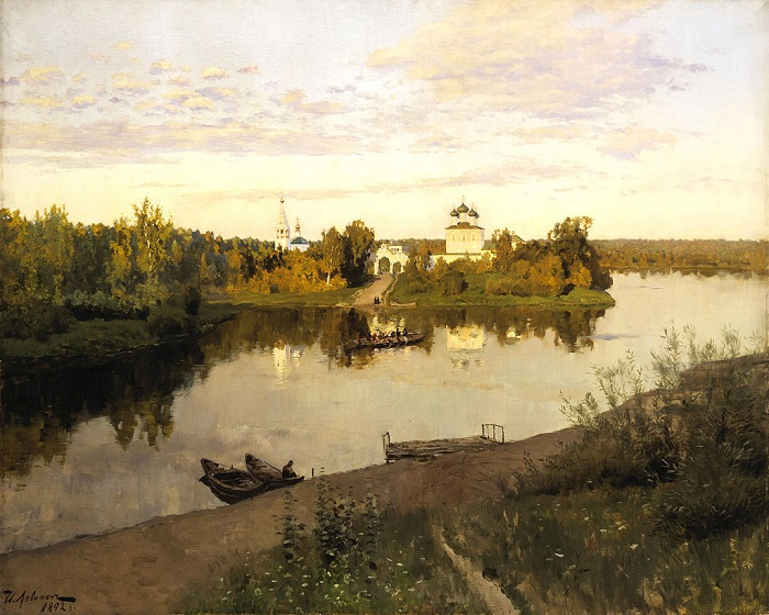 Вечерний звон. (1892). Автор: Исаак Левитан.