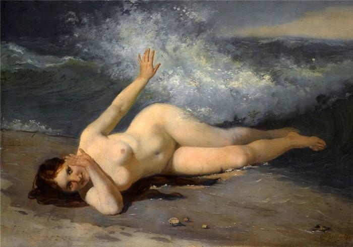 «Обнаженная купальщица». Автор: Фирс Журавлев.