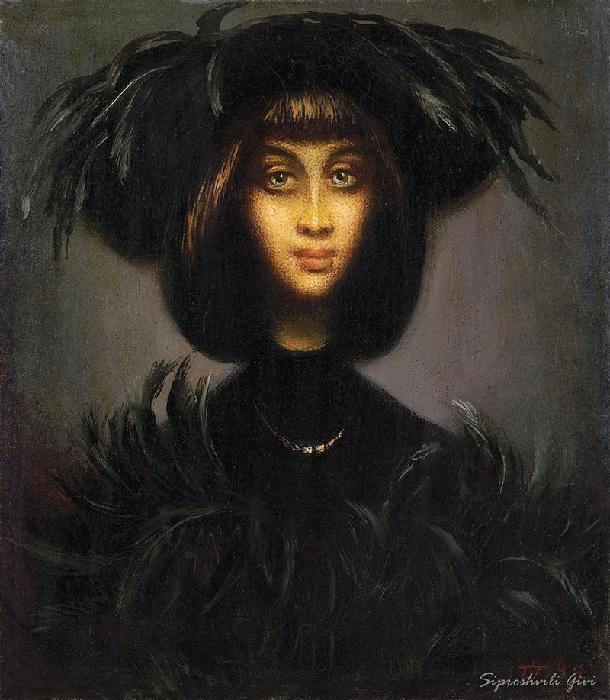 Портрет девушки. Живопись от Гиви Сипрошвили.