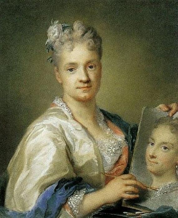 Автопортрет с портретом сестры. (1715 г.) Автор: Розальба Каррера.