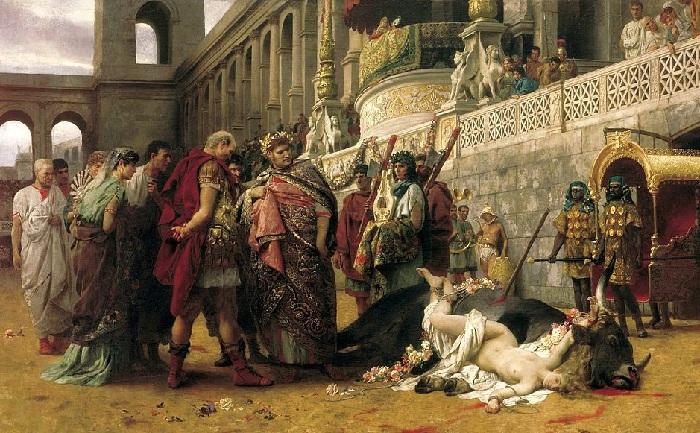 «Христианская Дирцея в цирке Нерона». (1897 год). Автор: Генрих Семирадский.