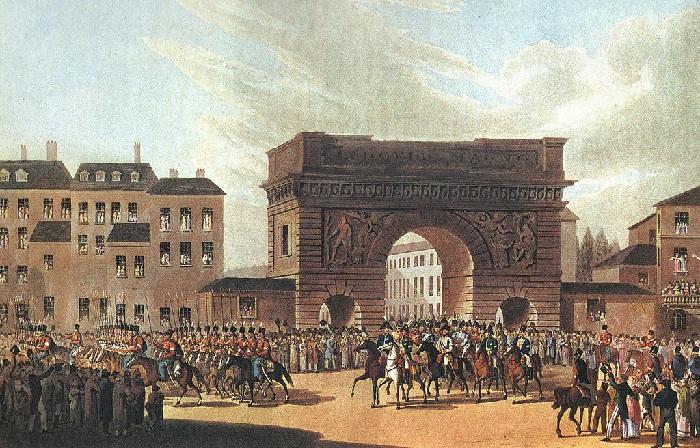 Вход русской армии и казаков в Париж.