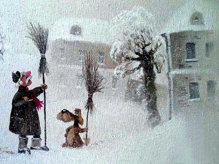 Ух ты… Снег пошел…Автор: Андрей Репников.