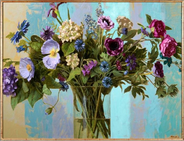 Букет цветов. Живопись от Kenne Gregoire.