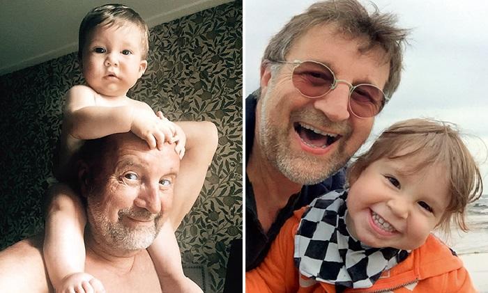 Леонид Ярмольник с внуком Петей.