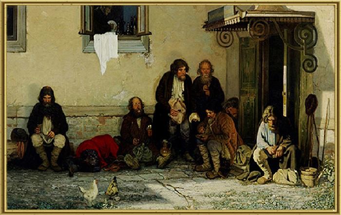 Земство обедает. (1872год). Автор: Г.Г. Мясоедов.