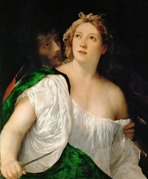 Тарквиний и Лукреция. Автор: Тициан Вечеллио.