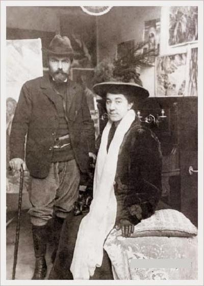 Кузьма Сергеевич и Мария Фёдоровна. Париж. 1908 год.