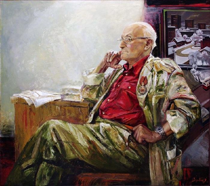 Портрет народного художника Беларуси Мая Данцига. (2008 год). Автор: Сергей Игнатенко. (Ученик Мая Данцига).