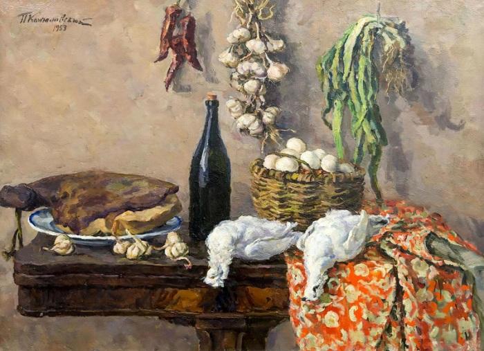 Белые куропатки. 1953 год.  Автор: П. П. Кончаловский.