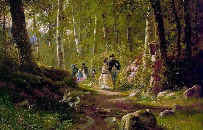 «Прогулка в лесу». Иван Шишкин.