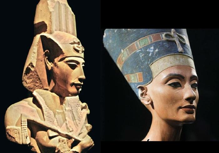 Эхнатон и Нефертити.