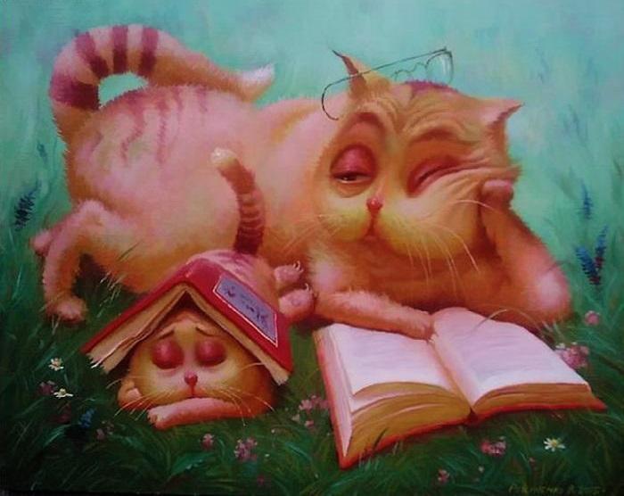 На досуге. Сказочные иллюстрации от Валентина Рекуненко.