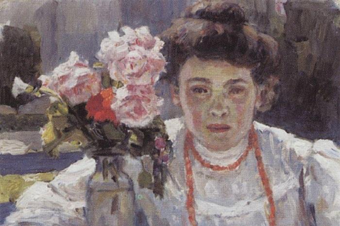 Портрет жены Василия Сурикова.