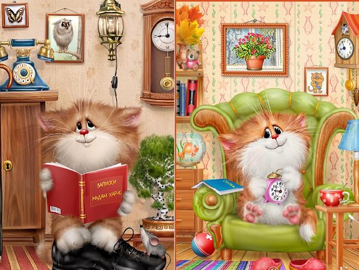 Кошачий арт от Алексея Долотова.