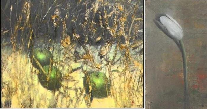Яблоки./ Тюльпан. Живопись от Юрия Купера.