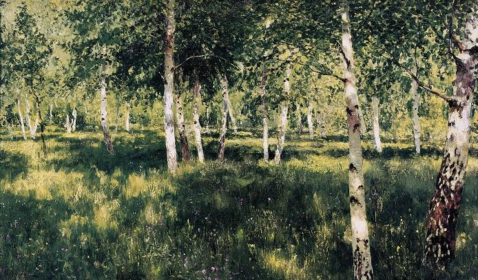 Берёзовая роща. (1885—1889). Автор: Исаак Левитан.