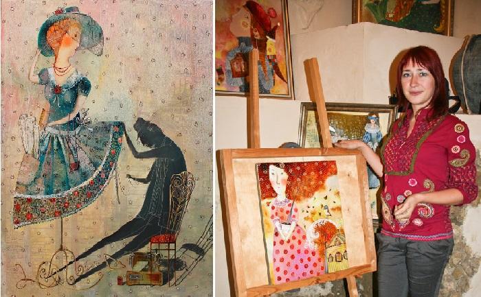 Анна Силивончик - белорусская художница. | Фото: evg-crystal.ru.