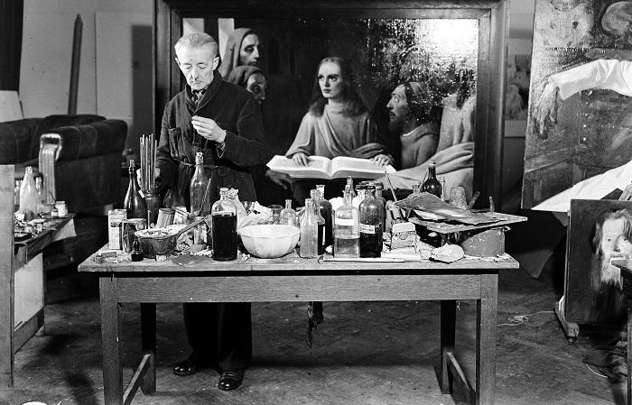 Ван Мегерен в 1945 году пишет картину «Молодой Христос, проповедующий в храме» для судебного эксперимента.