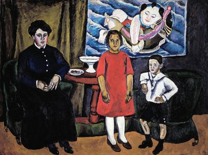 Семейный портрет. 1911 год. Автор: П. П. Кончаловский.