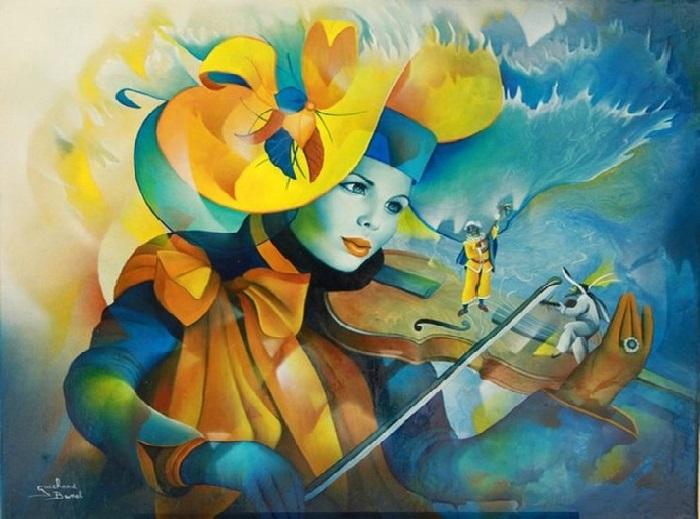 Трио музыкантов. Автор: Jeannette Guichard-Bunel.   Фото: art-veranda.ru.