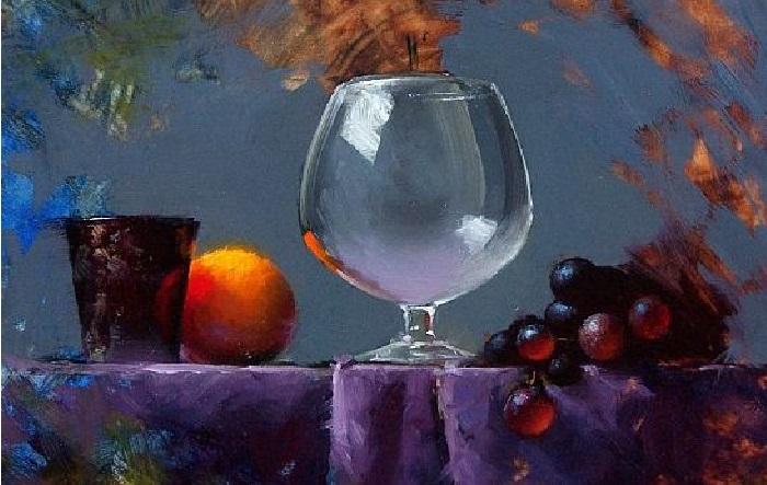 Натюрморт с виноградом. Художник: David Cheifetz.