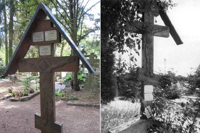Надгробный крест семьи Коровиных.