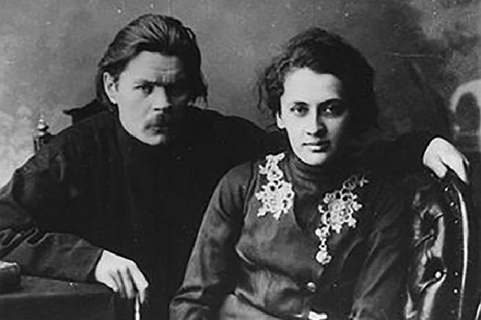 Екатерина Волжина и Максим Горький.