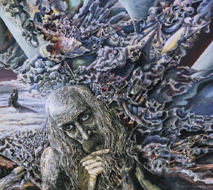 В дороге. 1990 год. Холст, темпера. 80х80. Автор: Иван Марчук.